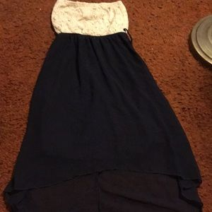 Off-white and navy dress